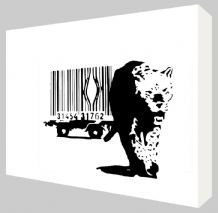 Banksy Barcode Leopard Canvas Art - Choose your size - Ready to Hang -